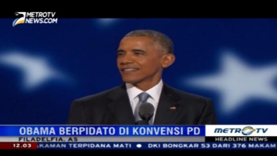 Obama Optimis Masa Depan AS di Tangan Hillary