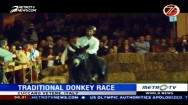 Traditional Donkey Race in Italy