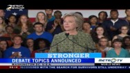US Presidential Debate Topics Announced