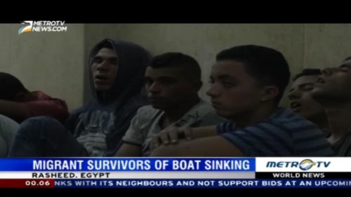 Migrant Survivors of Boat Sinking