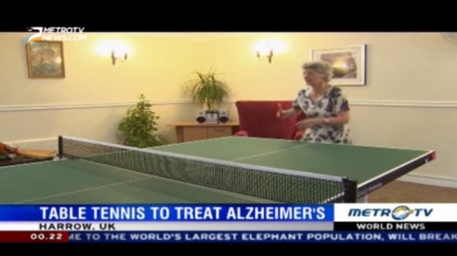 Table Tennis to Treat Alzheimer's