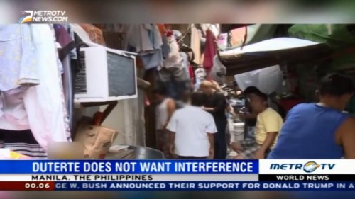 Duterte Doesn't Want Interference