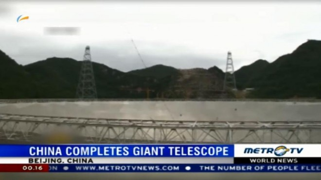 China Completes Giant Telescope