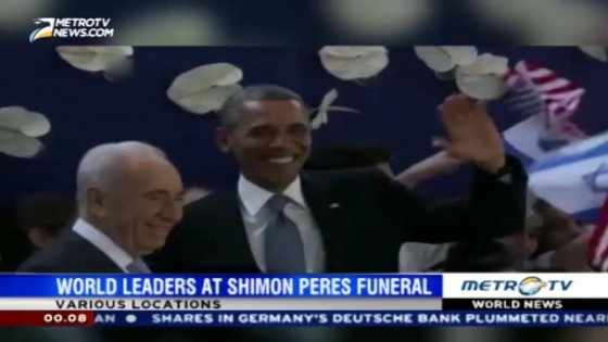 World Leaders at Shimon Peres Funeral