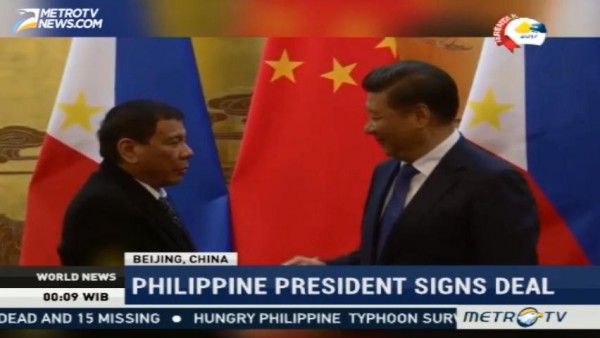 Philippine President Signs Deal With China