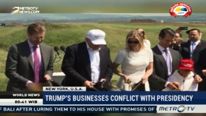 Trump's Businesses Conflict with Presidency