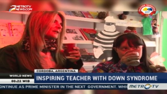Inspiring Teacher with Down Syndrome