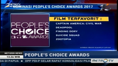 Ini Nominasi People's Choice Awards 2016