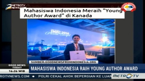 Hebat, Mahasiswa Indonesia Raih Young Author Award di Kanada