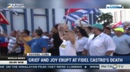Grief and Joy Erupt at Fidel Castro's Death