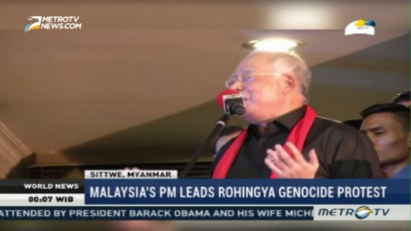 Malaysia's PM Leads Protest Against 'Genocide' of Rohingya