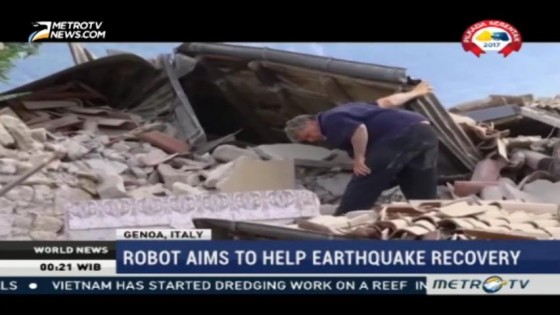 Robot Aims to Help Earthquake Recovery