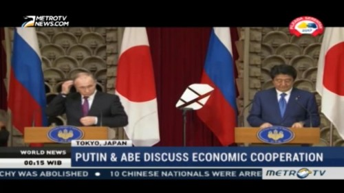 Putin and Abe Discuss Economic Cooperation