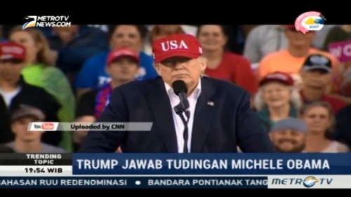 Tanggapi Michelle Obama, Trump: AS Punya Harapan
