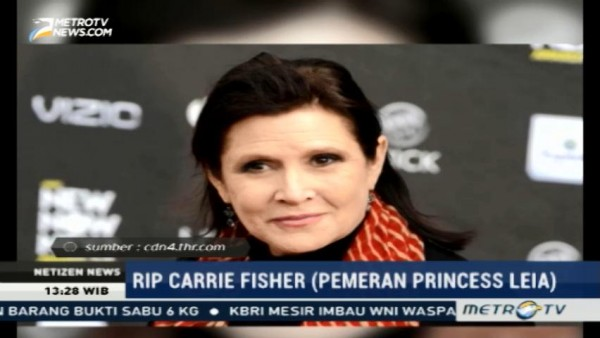 Carrie Fisher, Pemeran Princess Leia di Star Wars Tutup Usia