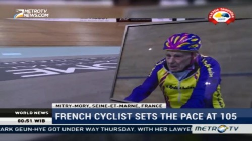 French Cyclist Sets the Pace at 105