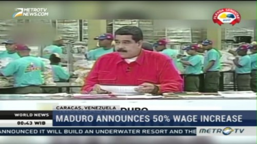 Maduro Announces 50% Wage Increase