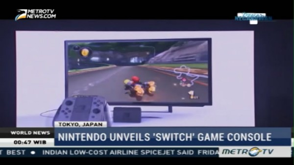 Nintendo Unveils 'Switch' Game Console