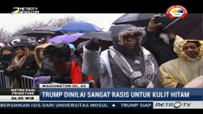 Warga Kulit Hitam Gelar Demo Anti Trump