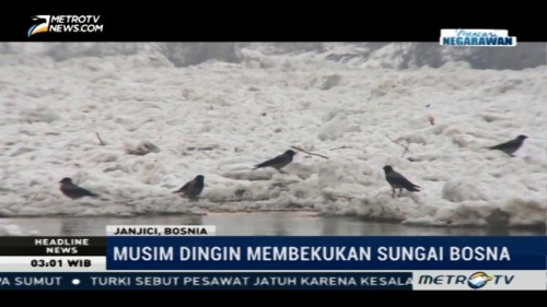 Sungai Bosna Membeku, Warga Terisolasi
