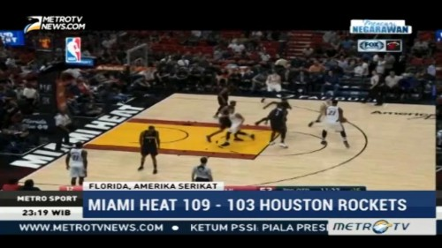 Houston Rockets Takluk di Tangan Miami Heat