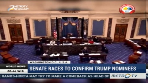 US Senate Races to Confirm Trump Nominees