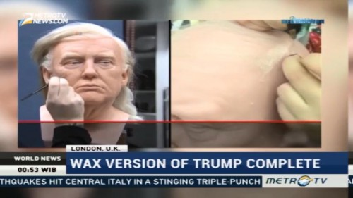Wax Version of Donald Trump Complete