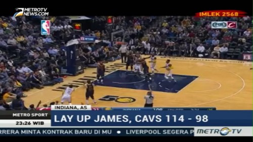 Cleveland Cavaliers Taklukkan Indiana Pacers