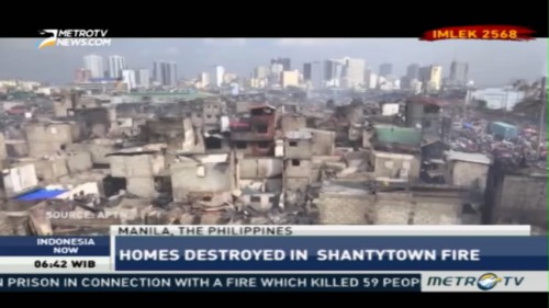 Manila Shanty Town Fires Leave More Than 15.000 Homeless
