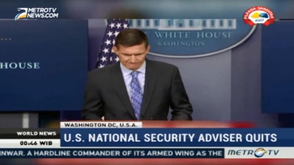US National Security Adviser Quits