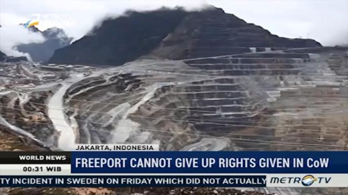 Freeport Cannot Give Up Rights Given in CoW