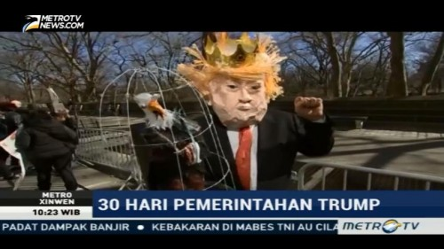 Demonstrasi Anti-Trump Berlangsung di Hari Presiden AS