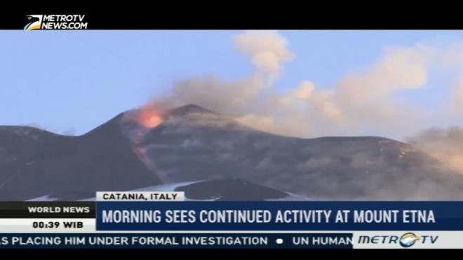 Mount Etna Eruption Continues