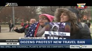 Dozens Protest Trump's New Travel Ban