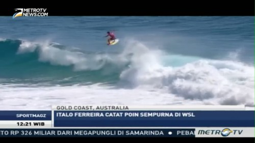 Italo Ferreira Catat Poin Sempurna di World Surf League