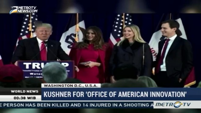 Jared Kushner to Lead New White House Office of American Innovation