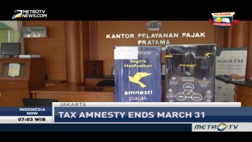 Tax Amnesty Ends on March 31