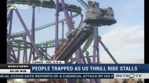 People Trapped as Thrill Ride Stalls