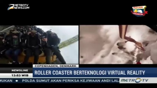 Sensasi Naik Roller Coaster Berteknologi Virtual Reality