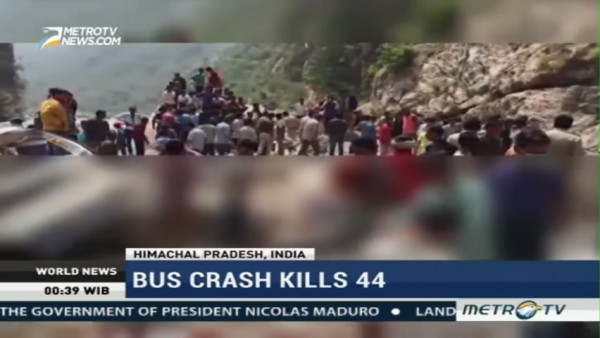 Bus Crash Kills 44 in Northern India