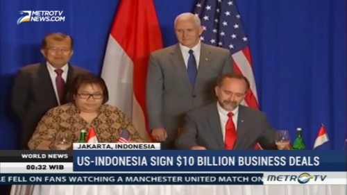 US-Indonesia Sign $10 Billion Business Deal