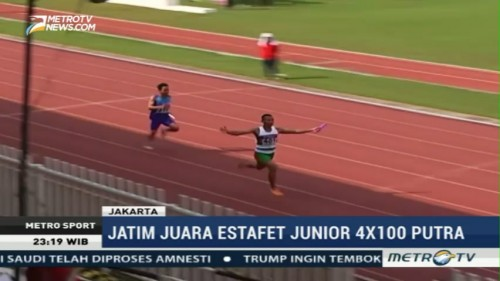 Jatim Juara Estafet Junior 4x100 meter