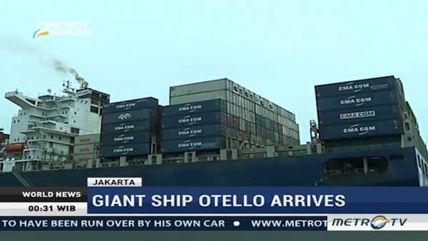 Giant Ship Otello Arrives