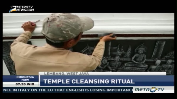 Temple Cleansing Ritual Welcoming Vesak Day