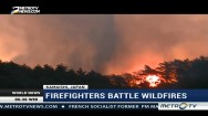 Firefighters Battle Wildfires in Japan