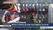 Stores Allow Customers to Play Musical Instrument