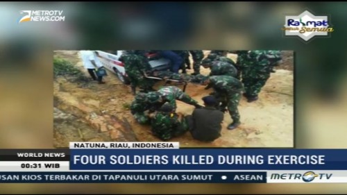 Four Soldiers Killed During Exercise in Natuna