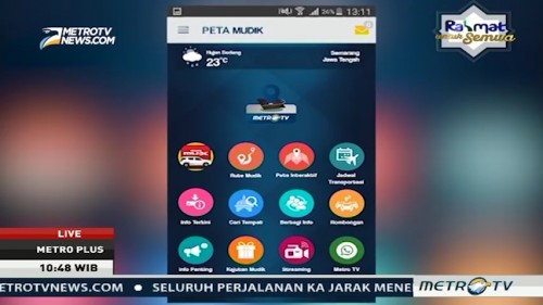 Program Liputan Mudik & Peta Mudik Metro TV (2)