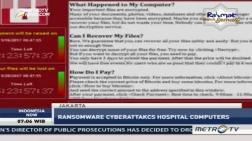 WannaCry Ransomware Affects Hospitals in Jakarta
