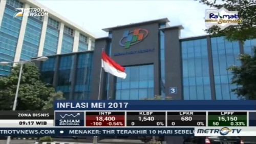 BPS Catat Inflasi Mei 0,39%